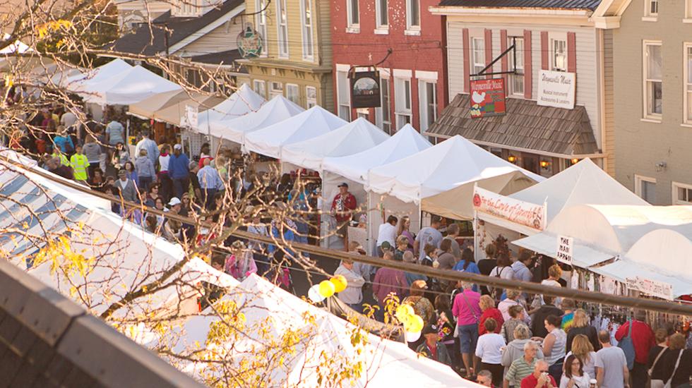 Vendor Tents down Main Street